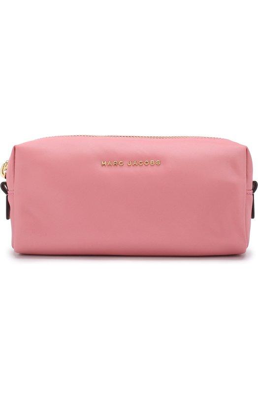 Купить Текстильная косметичка на молнии с логотипом бренда Marc Jacobs, M0013617, Китай, Розовый, Текстиль: 100%;