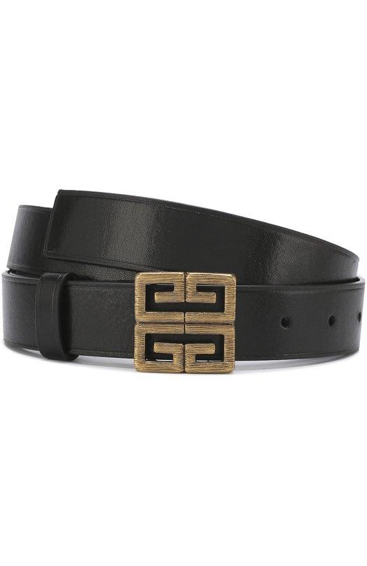 Купить Кожаный ремень с фигурной пряжкой Givenchy, BK400GK09T, Италия, Черный, Кожа натуральная: 100%; Пряжка-мет.сплав: 100%;