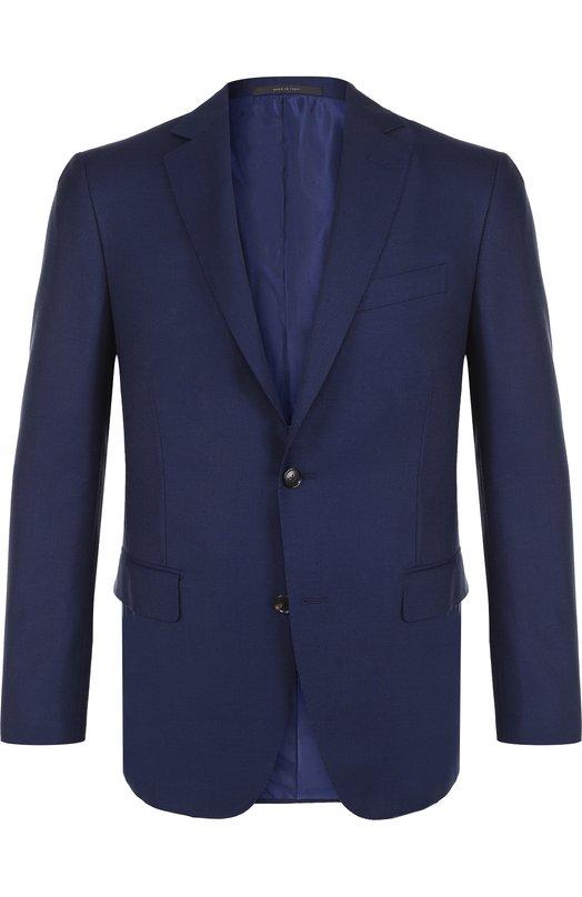 Купить Однобортный шерстяной пиджак Pal Zileri, M32J322-2--33720, Италия, Синий, Шерсть: 100%; Подкладка-купра: 100%;