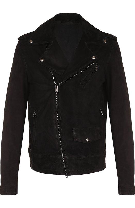 Купить Замшевая куртка на молнии Salvatore Santoro, 34516-U/CAM, Италия, Черный, Подкладка-хлопок: 100%; Замша натуральная: 100%;