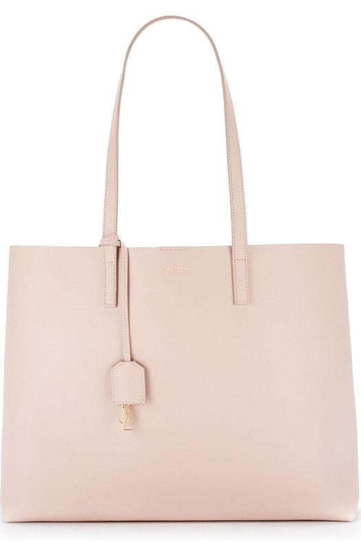 Купить Сумка-тоут Shopping large Saint Laurent, 394195/CSV0J, Италия, Светло-розовый, Кожа натуральная: 100%;