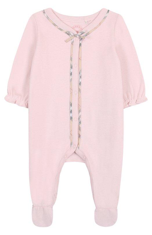 Купить Хлопковая пижама Burberry, 4016670, Таиланд, Розовый, Хлопок: 100%;