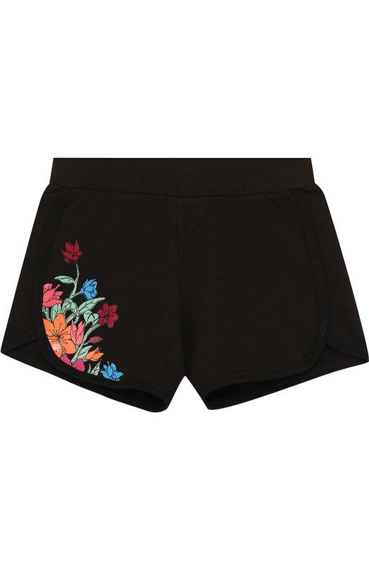 Купить Хлопковые шорты с принтом Ea 7, 3ZFS52/FJE9Z, Перу, Черный, Хлопок: 97%; Эластан: 3%;