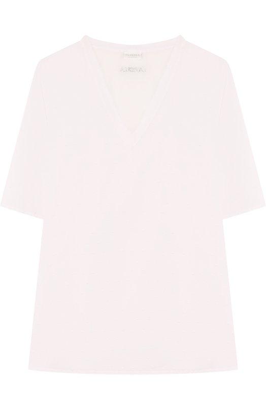 Купить Хлопковая туника свободного кроя La Perla, 67655/8A-14A, Италия, Белый, Хлопок: 100%;