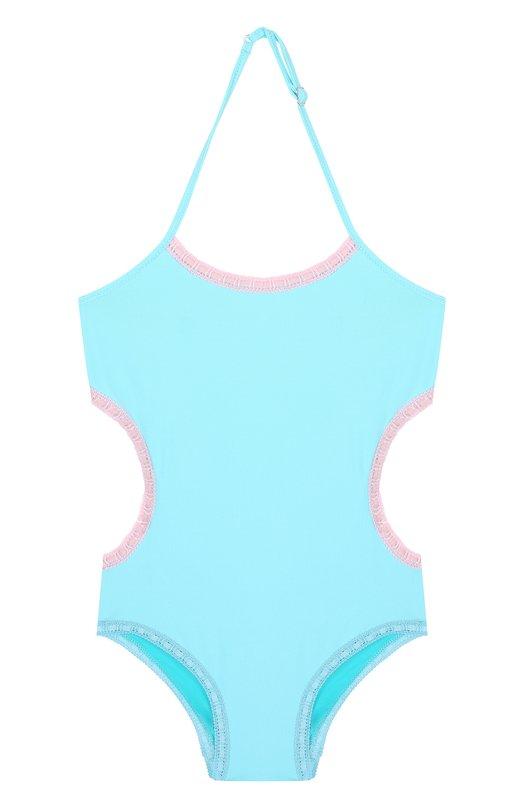 Купить Слитный купальник с фигурным вырезом La Perla, 67659/2A-6A, Италия, Голубой, Полиамид: 86%; Эластан: 14%;