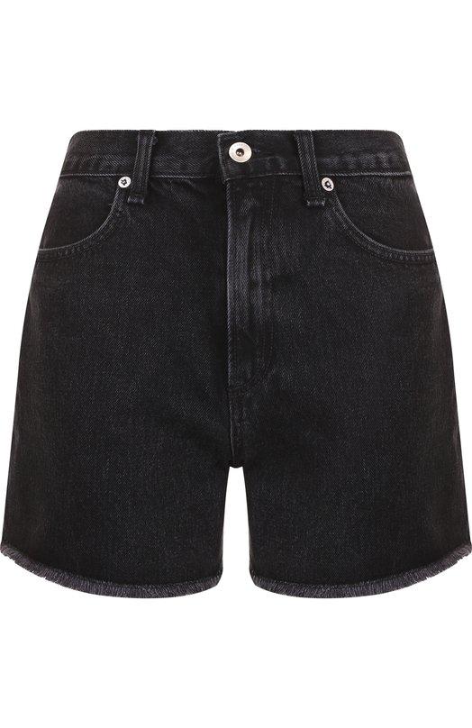 Купить Джинсовые мини-шорты с потертостями Rag&Bone, W1946C611STK, США, Серый, Хлопок: 100%;