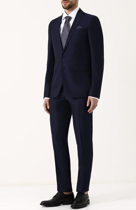 Купить Шерстяной костюм с пиджаком на двух пуговицах Sand, 1567/STAR-CRAIG, Португалия, Синий, Подкладка-вискоза: 50%; Подкладка-ацетат: 50%; Шерсть овечья: 100%;