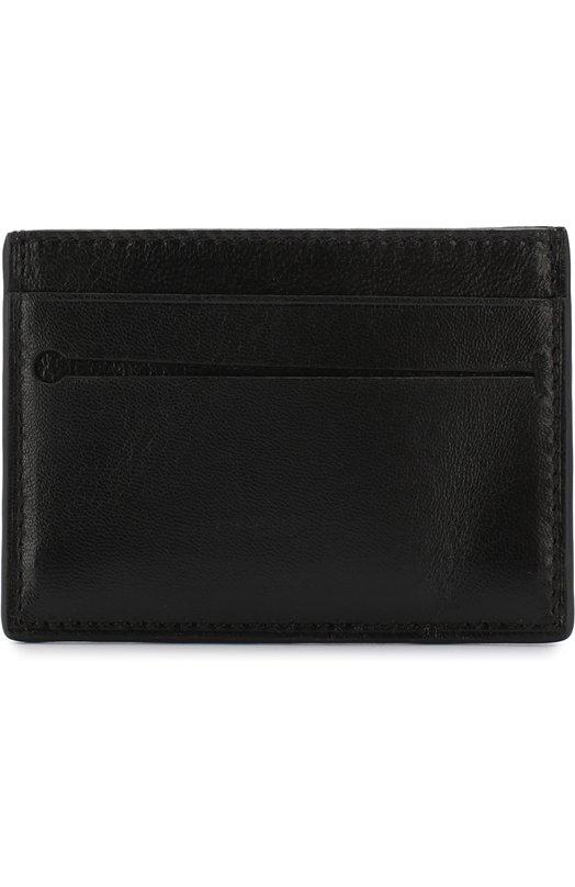 Купить Кожаный футляр для кредитных карт Ermenegildo Zegna, E1259T-AFR, Италия, Черный, Кожа натуральная: 100%;