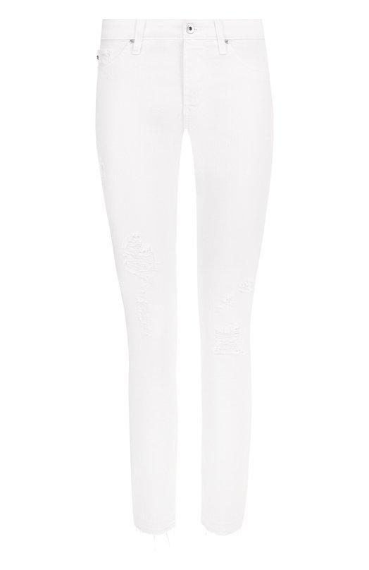 Однотонные джинсы-скинни с потертостями Ag, Ag