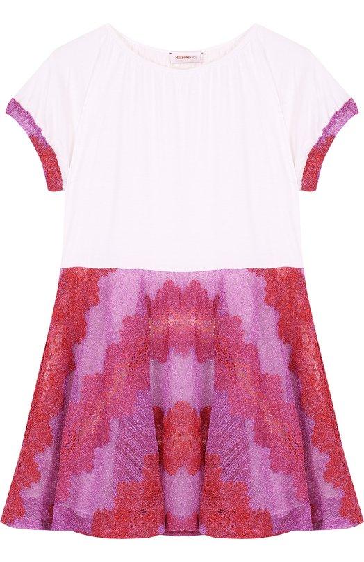 Купить Мини-платье джерси с металлизированной отделкой Missoni, E18.BA.219622, Италия, Фуксия, Подкладка-шелк: 96%; Подкладка-эластан: 4%; Вискоза: 35%; Полиэстер: 28%; Купра: 20%; Полиамид: 17%;