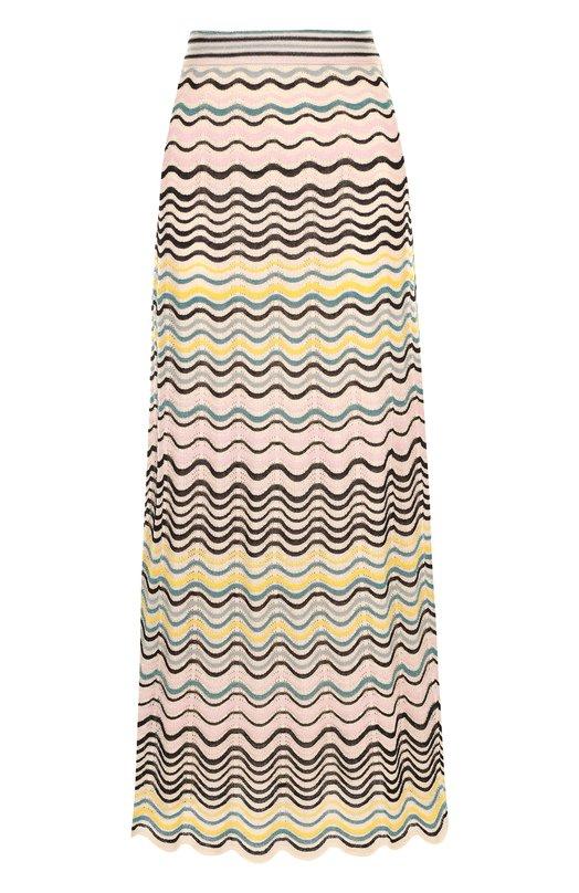 Купить Вязаная юбка-миди из смеси хлопка и полиамида M Missoni, PD0KG09P2QW, Китай, Разноцветный, Полиэстер: 7%; Хлопок: 67%; Полиамид: 26%; Подкладка-полиэстер: 100%;