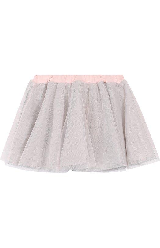 Купить Многослойная юбка из хлопка свободного кроя Aletta, RW88575/24M, Италия, Серебряный, Хлопок: 100%;