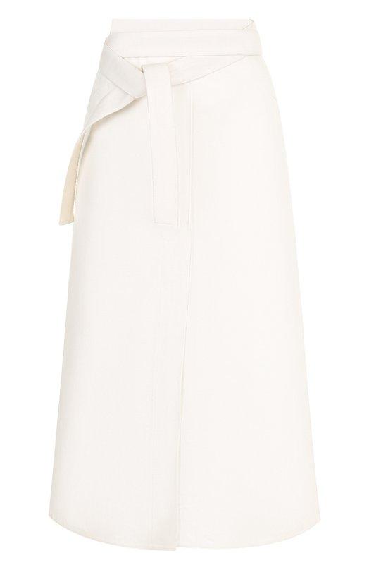Купить Однотонная хлопковая юбка-миди Walk of Shame, SK007-PS18, Россия, Белый, Хлопок: 100%;