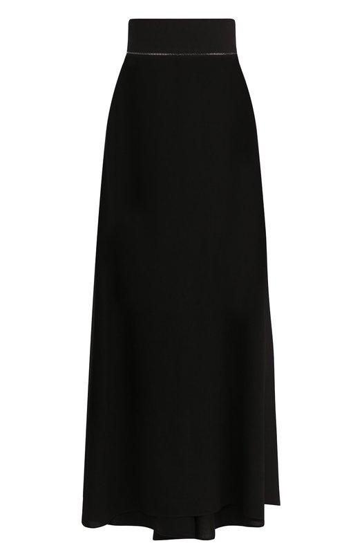 Купить Однотонная юбка-макси с подолом Tegin, SS1828, Россия, Черный, Хлопок: 100%;