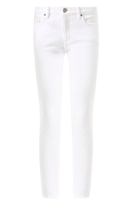 Купить Однотонные укороченные джинсы-скинни Victoria, Victoria Beckham, VB2 SS18 477, Турция, Белый, Хлопок: 98%; Эластан: 2%;