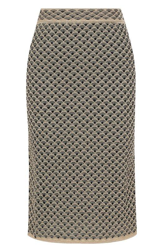 Купить Вязаная юбка-миди с широким поясом M Missoni, PD0KG09T2R2, Китай, Золотой, Люрекс: 7%; Полиамид: 64%; Хлопок: 29%; Подкладка-полиэстер: 100%;