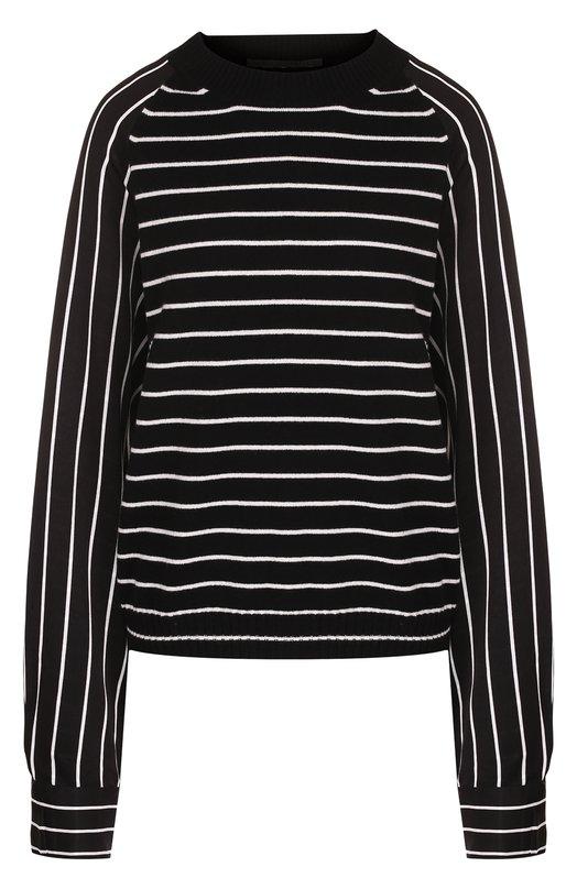 Купить Пуловер свободного кроя из смеси шерсти и кашемира Haider Ackermann, 183-6603-261, Италия, Черно-белый, Шерсть: 70%; Кашемир: 30%;