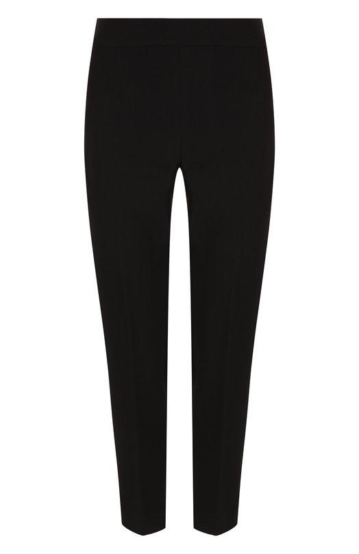 Купить Укороченные однотонные брюки прямого кроя St. John, K84PW20, США, Черный, Полиэстер: 70%; Спандекс: 6%; Вискоза: 24%;