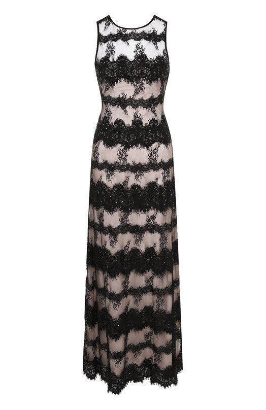 Купить Приталенное платье-макси без рукавов Alice + Olivia, CG712E21507, Индия, Черный, Подкладка-полиэстер: 94%; Подкладка-эластан: 6%; Полиамид: 100%; Полиэстер: 100%;