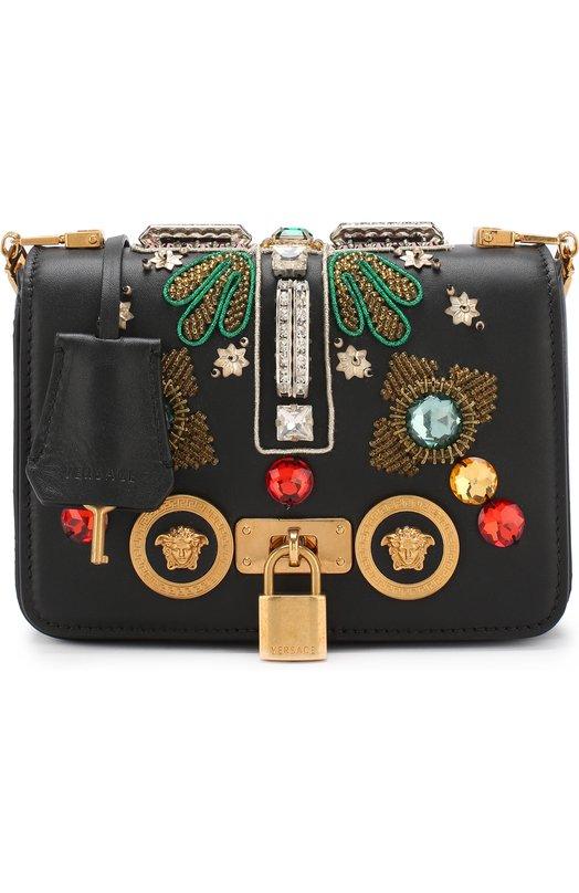 Купить Сумка Icon Versace, DBFG305/DV1CR0, Италия, Черный, Кожа натуральная: 100%;