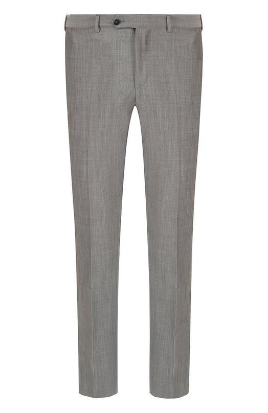 Купить Шерстяные брюки прямого кроя Pal Zileri, M3110--K---33144, Италия, Серый, Шерсть: 84%; Мохер: 16%; Подкладка-вискоза: 100%;