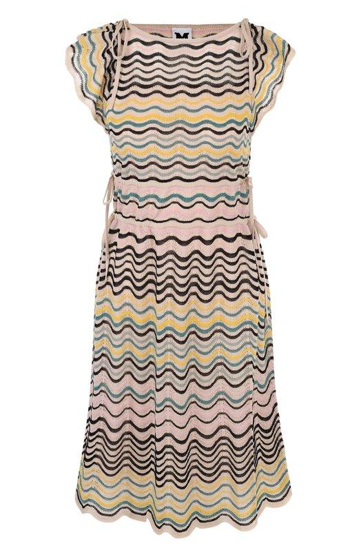 Купить Вязаное приталенное мини-платье без рукавов M Missoni, PD0KD26R2QW, Китай, Бежевый, Полиэстер: 7%; Хлопок: 67%; Полиамид: 26%;