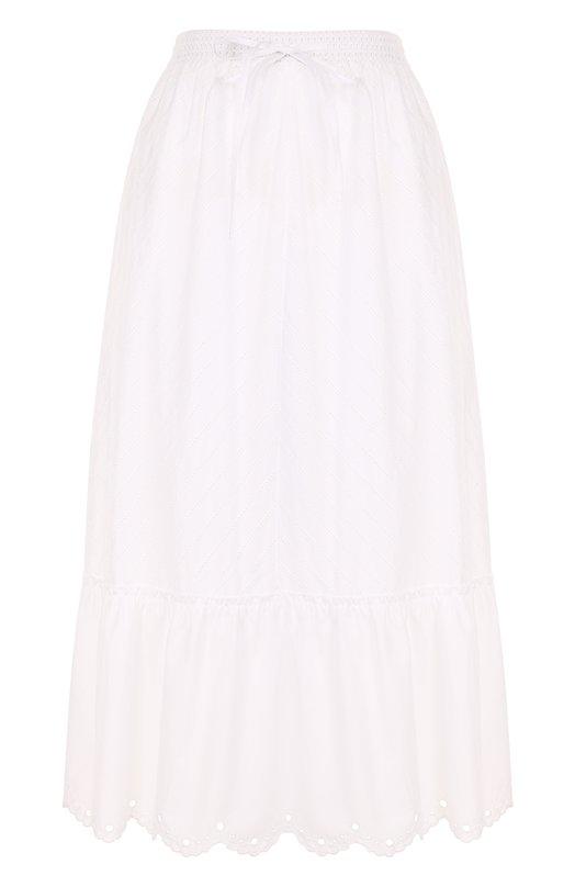 Купить Однотонная хлопковая юбка-миди MCQ, 504664/RKC04, Китай, Белый, Хлопок: 100%; Подкладка-хлопок: 100%;