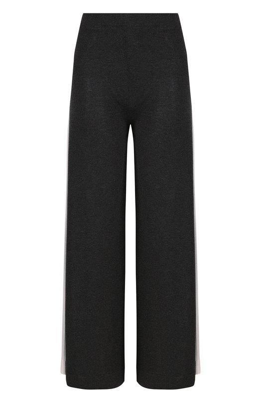 Купить Расклешенные брюки из вискозы с лампасами D.Exterior, 46464, Италия, Темно-серый, Вискоза: 84%; Полиамид: 16%;