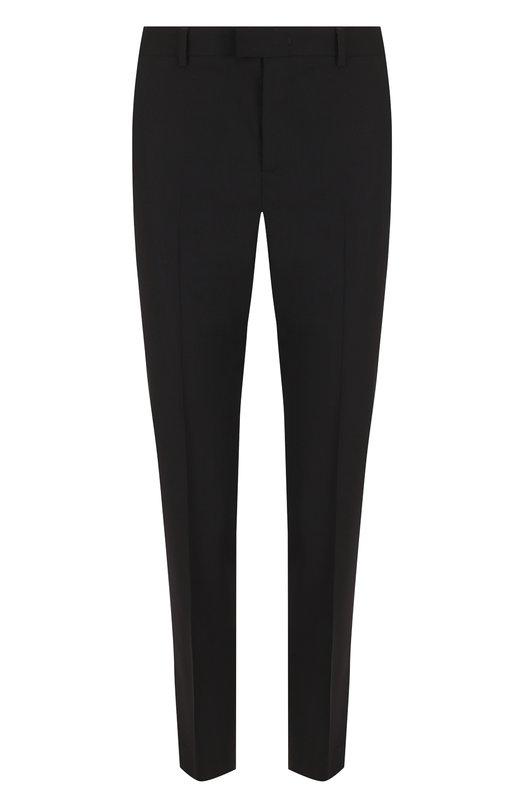 Купить Однотонные брюки прямого кроя из эластичной шерсти REDVALENTINO, PR3RB0B0/15N, Румыния, Черный, Шерсть овечья: 98%; Эластан: 2%;