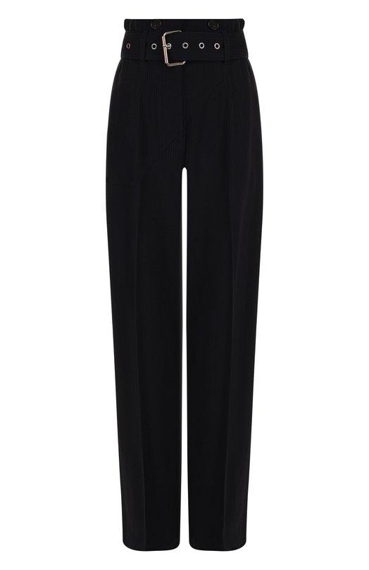Купить Однотонные брюки из вискозы с поясом 3.1 Phillip Lim, E181-5375SVS, Китай, Темно-синий, Вискоза: 99%; Эластан: 1%;