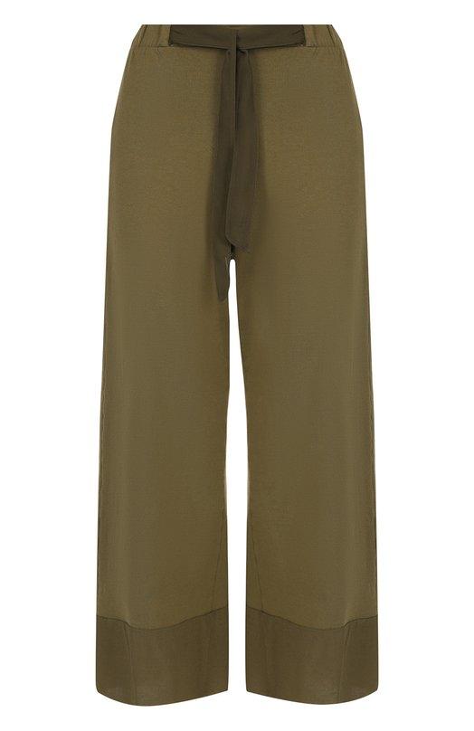 Укороченные хлопковые брюки с карманами Deha, D73446, Тунис, Хаки, Хлопок: 100%;  - купить