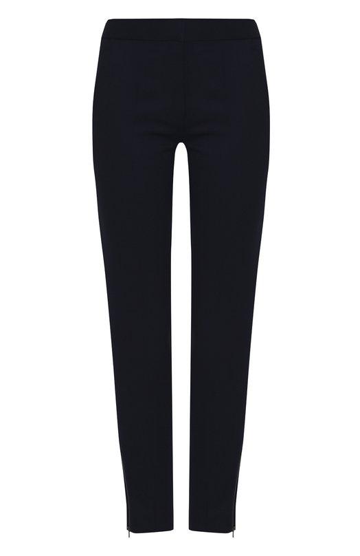 Купить Однотонные брюки прямого кроя из шерсти Stella McCartney, 358310/SY704, Венгрия, Темно-синий, Шерсть: 100%;