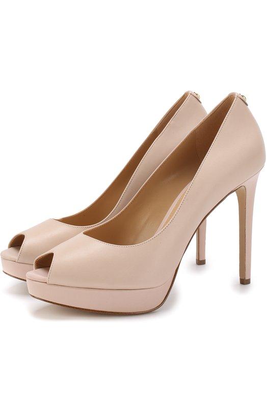 Купить Кожаные туфли Erika на шпильке MICHAEL Michael Kors, 40S8ERHP1L, Китай, Светло-розовый, Кожа натуральная: 100%; Стелька-кожа: 100%; Подошва-резина: 100%;