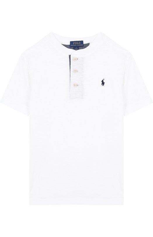 Купить Хлопковая футболка с логотипом бренда Polo Ralph Lauren, 322690106, Индия, Белый, Хлопок: 100%;