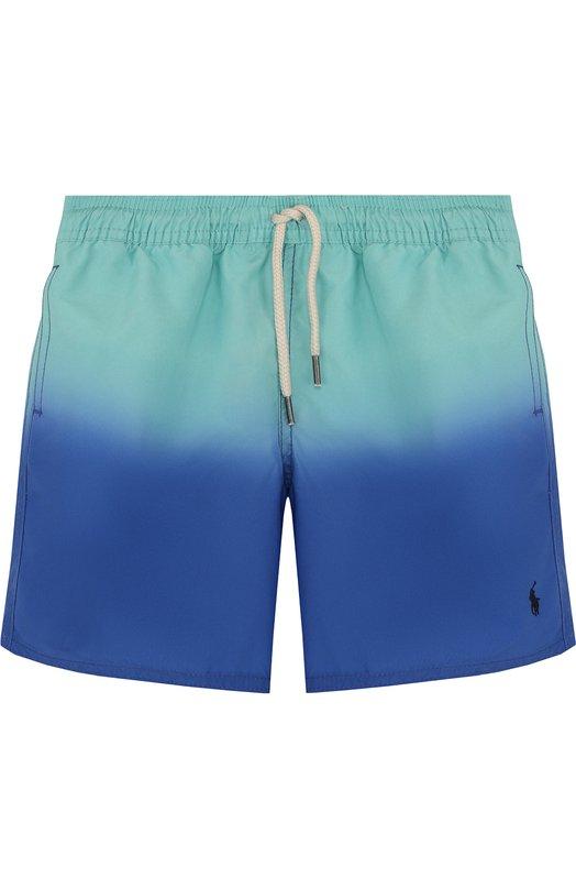 Купить Шорты с поясом на кулиске Polo Ralph Lauren, 321692224, Китай, Голубой, Полиэстер: 100%; Подкладка-полиэстер: 100%;
