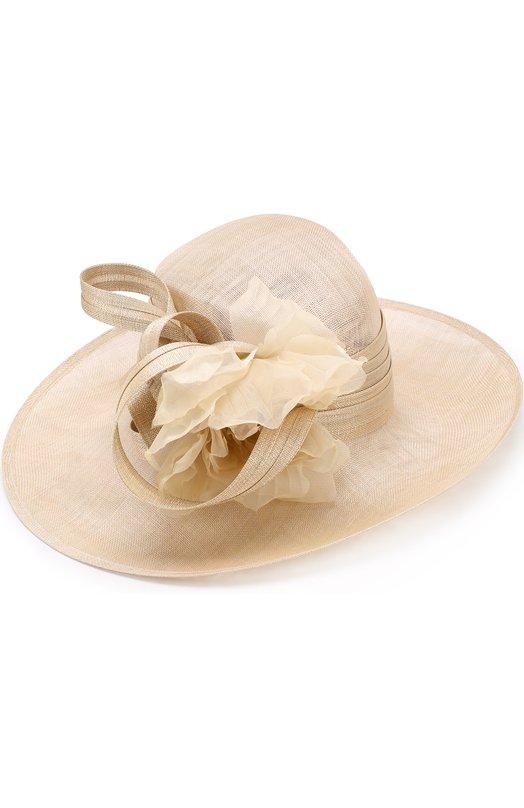 Купить Соломенная шляпа с декором в виде цветка Philip Treacy, 0C460, Великобритания, Бежевый, Солома: 100%;