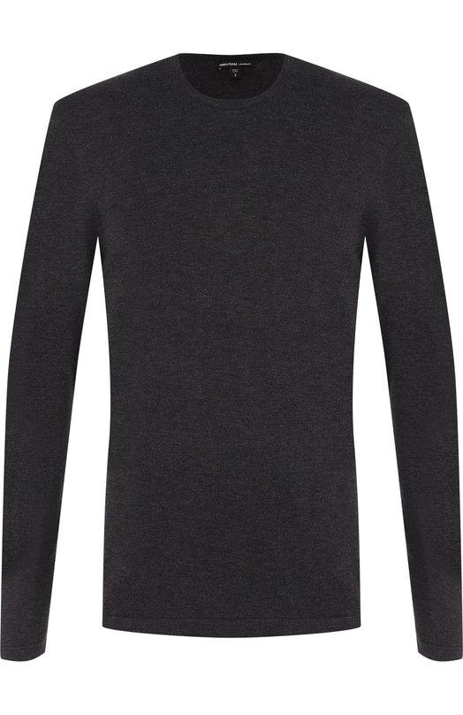 Купить Однотонный хлопковый джемпер James Perse, MFGC3054, Китай, Темно-серый, Хлопок: 100%;