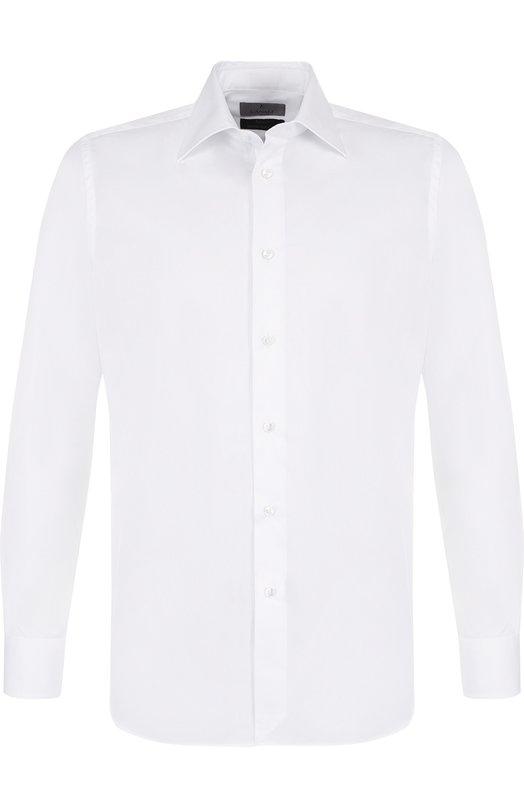Купить Хлопковая сорочка с воротником кент Canali, XX05/GE00288, Италия, Белый, Хлопок: 100%;