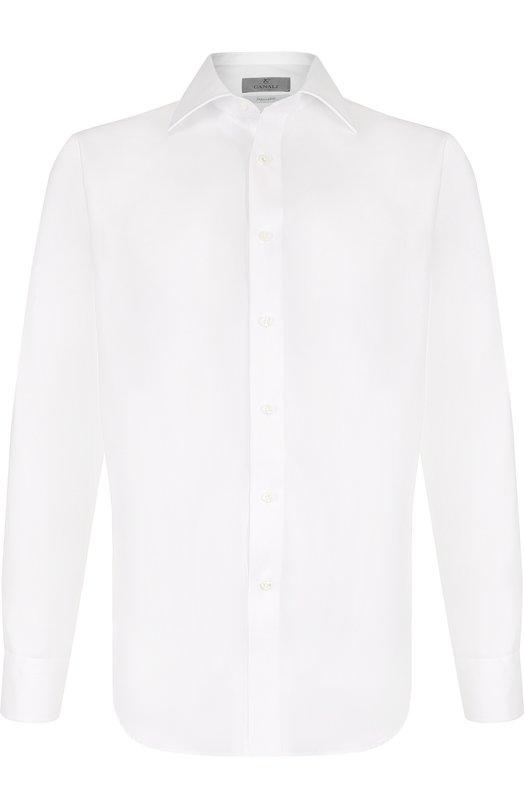 Купить Хлопковая сорочка с воротником кент Canali, N705/GD00392/CS, Италия, Белый, Хлопок: 100%;