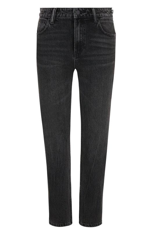 Купить Укороченные джинсы прямого кроя с потертостями Denim X Alexander Wang, 4D994191BX, Китай, Серый, Хлопок: 100%;