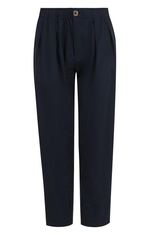 Купить Укороченные хлопковые брюки с эластичным поясом 5PREVIEW, S267, Китай, Синий, Хлопок: 97%; Эластан: 3%;