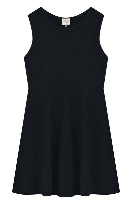 Купить Приталенное мини-платье джерси Armani Junior, 3Z3A60/3M0LZ/11A-16A, Тунис, Темно-синий, Вискоза: 70%; Полиэстер: 30%;