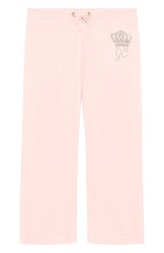 Спортивные брюки прямого кроя с поясом на кулиске Juicy Couture