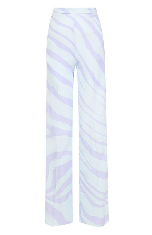 Расклешенные брюки из вискозы с карманами и принтом  Roberto Cavalli