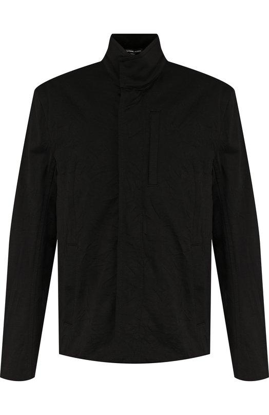 Купить Хлопковая куртка на молнии с воротником-стойкой James Perse, MCPT2963, Китай, Черный, Хлопок: 68%; Полиэстер: 32%; Подкладка-полиамид: 100%;