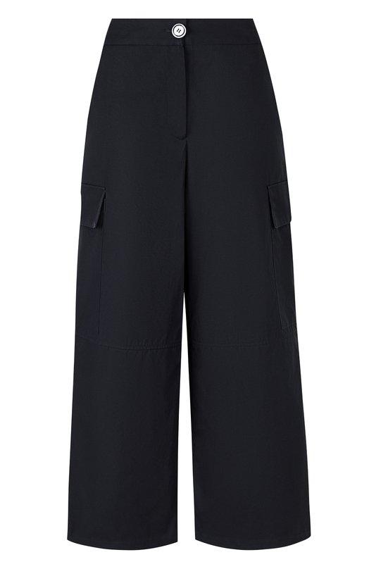 Купить Укороченные широкие брюки с карманами Walk of Shame, P005-PS18, Россия, Синий, Хлопок: 100%;