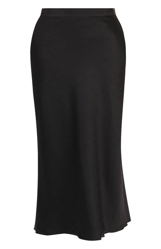 Купить Однотонная хлопковая юбка-миди Tegin, SS1841, Россия, Черный, Хлопок: 100%;