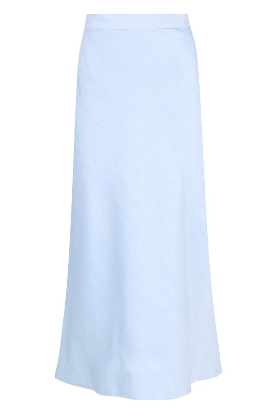 Купить Однотонная хлопковая юбка-миди Tegin, SS1841, Россия, Голубой, Хлопок: 100%;