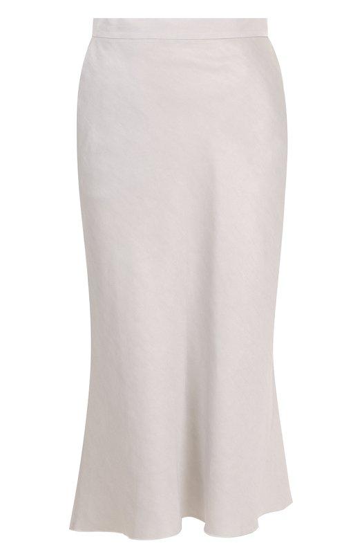 Купить Однотонная хлопковая юбка-миди Tegin, SS1841, Россия, Серый, Хлопок: 100%;