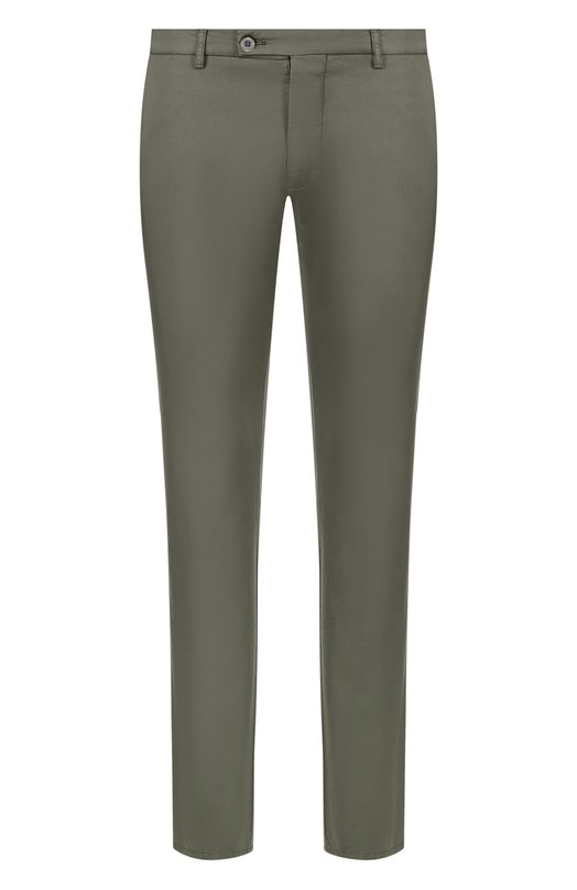 Купить Хлопковые брюки прямого кроя Berwich, SC/1/MX011X, Италия, Зеленый, Хлопок: 97%; Эластан: 3%;